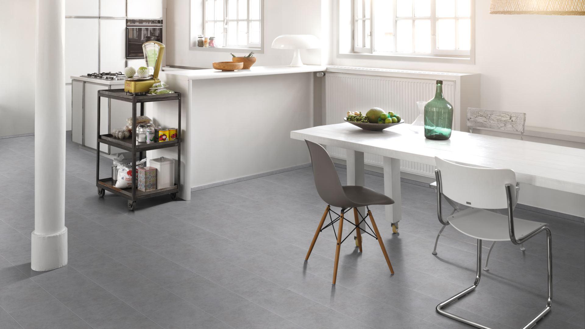 Fußboden Vinyl Fliesenoptik ~ Parador vinyl basic 4.3 beton grau fliesenoptik