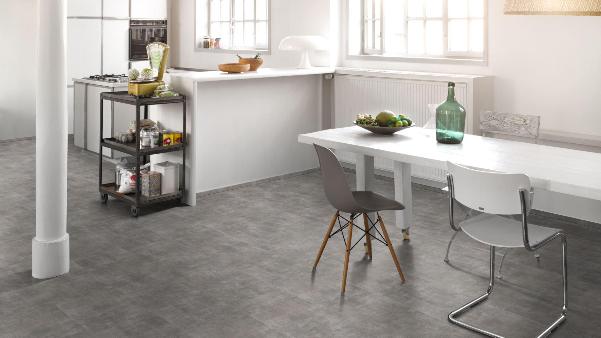 Vinyl Fußboden Fliesenoptik ~ Parador vinyl trendtime mineral grey fliesenoptik
